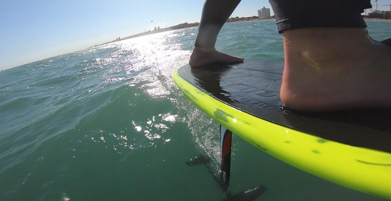 Hydrofoil corso kite surf Lago Santa Croce