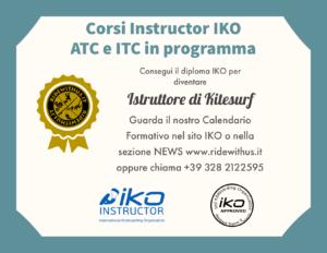 Istruttore kitesurf ATC e ITC IKO